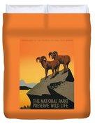 National Parks Preserve Wildlife Vintage Poster 1938 Duvet Cover