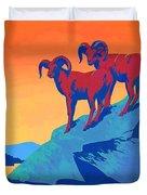 National Parks Wild Life Poster Duvet Cover