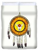 Native American Ceremonial Shield Number 2 Duvet Cover