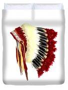 Native American Headdress Duvet Cover