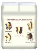 Native American Headdresses Number 4 Duvet Cover
