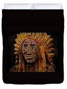 Native American In Wood 1886 Duvet Cover