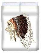 Native American War Bonnet - Plains Indians Duvet Cover
