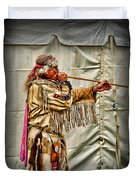 Native American With Blowgun Duvet Cover