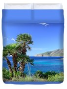 Native Fan Palms In Sant Elm Duvet Cover