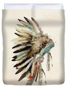 Native Headdress Duvet Cover