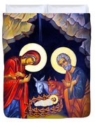 Nativity Feast Duvet Cover