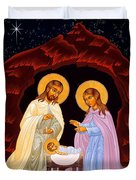 Nativity Night Duvet Cover