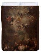 Nativity Of Mary Duvet Cover by Andrea Celesti