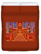 Nativity Of Our Lord Church Duvet Cover