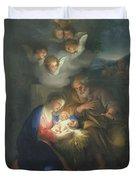 Nativity Scene Duvet Cover by Anton Raphael Mengs