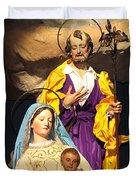 Christmas Nativity Scene Duvet Cover