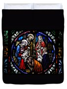 Nativity With Kings Duvet Cover