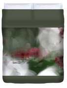 Natural Abstractions #6 Red Dragonflies In Sunlight Duvet Cover