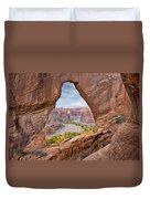 Natural Arch And River Valley Canyon De Duvet Cover