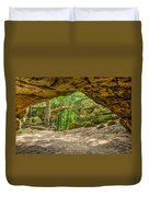 Natural Bridge Cave Duvet Cover