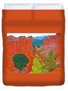 Natural Bridge In Bryce Canyon National Park-utah  Duvet Cover