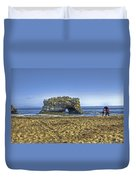 Natural Bridges And Lovers Duvet Cover