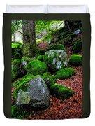 Natural Emeralds. Wicklow. Ireland Duvet Cover