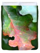 Natural Oak Leaf Abstract Duvet Cover