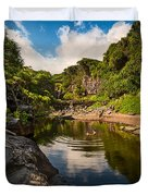 Natural Pool - The Beautiful Scene Of The Seven Sacred Pools Of Maui. Duvet Cover