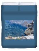 Natural Pool Of Seawater Duvet Cover