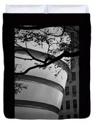 Nature And Architecture In Black And White Duvet Cover