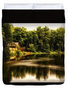 Nature Center Salt Creek In August Duvet Cover