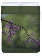 Nature Does Not Hurry Blossoms In Purple Duvet Cover