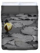 Nature Does Not Hurry Waterlily Duvet Cover