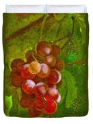 Nature Goodness Grapes On The Vine Duvet Cover