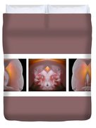Nature In Abstract Camellia Duvet Cover