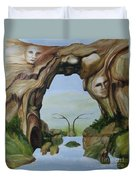 Natures Faces Duvet Cover