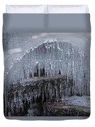 Natures Frozen Cathedral Sculpture Duvet Cover