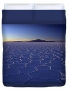 Natures Geometry Salar De Uyuni Duvet Cover