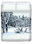 Natures Handywork - Snow Storm - Snow - Trees 2 Duvet Cover