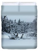 Natures Handywork - Snowstorm - Snow - Trees Duvet Cover