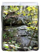 Nature's Mossy Boulders Duvet Cover