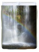 Natures Rainbow Falls Duvet Cover