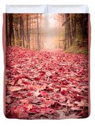 Nature's Red Carpet Revisited Duvet Cover by Edward Fielding