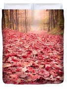 Nature's Red Carpet Revisited Duvet Cover