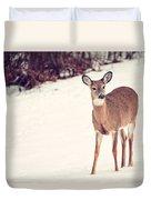 Natures Winter Visit Duvet Cover