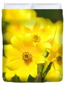 Natures Yellow Duvet Cover