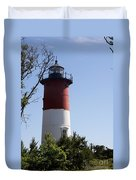Nauset Light - Cape Cod -  Ma Duvet Cover