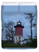 Nauset Lighthouse Amid The Scrub Pines Duvet Cover