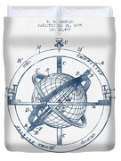Nautical Observation Apparatus Patent From 1895  -  Blue Ink Duvet Cover