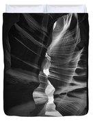 Antelope Canyon Black And White Duvet Cover