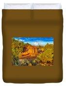 Navajo Hogan Canyon Dechelly Nps Duvet Cover