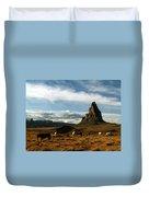 Navajo Horses At El Capitan Duvet Cover