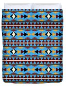 Navajo Blue Pattern Duvet Cover